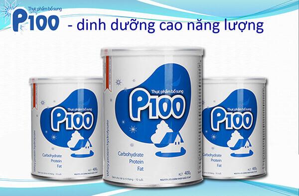 Sữa P100 tăng cân cho trẻ