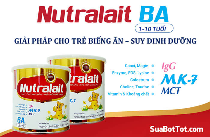 Sữa tăng cân Nutralait BA