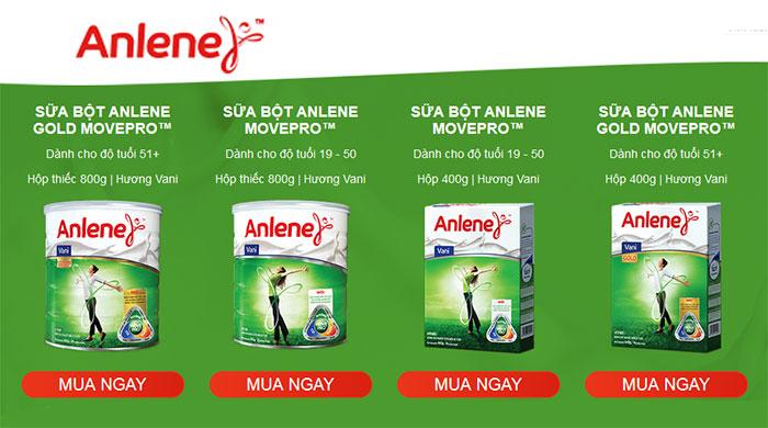 Sữa Anlene giới thiệu sản phẩm mới