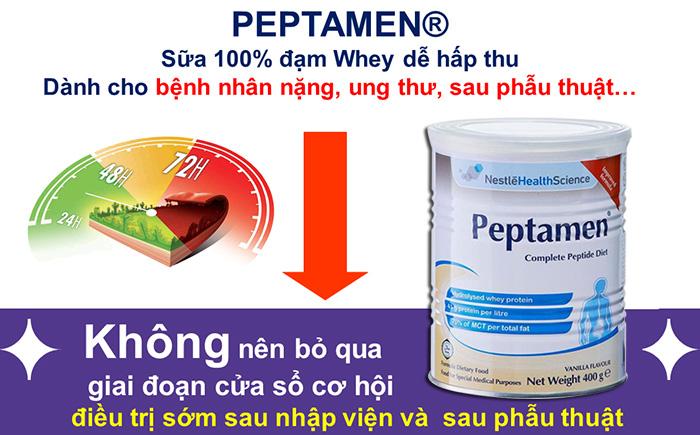 Sữa Peptamen cho người ung thư