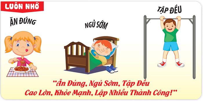 Cân nặng chiều cao cho trẻ