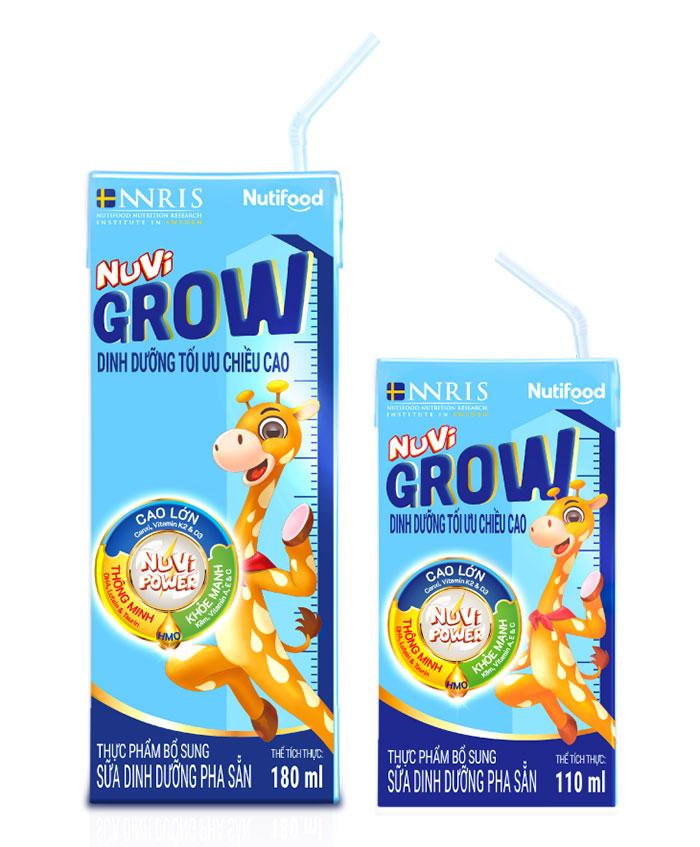 Sữa bột pha sẵn Nuvi Grow