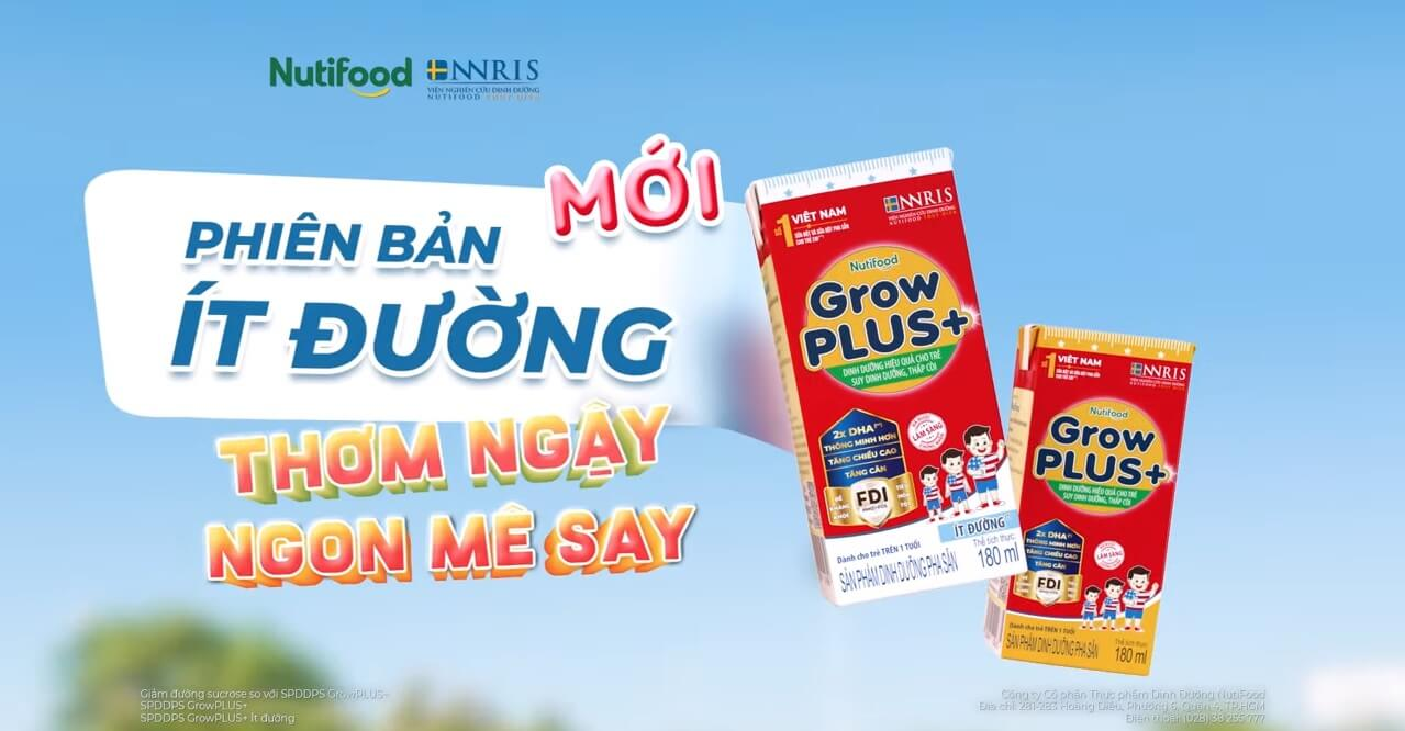 Sữa bột pha sẵn Grow Plus