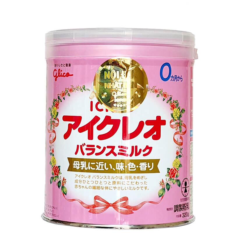 Sữa GLICO ICREO số 0 320g Nội Địa Nhật Cho Trẻ từ 0-12 Tháng