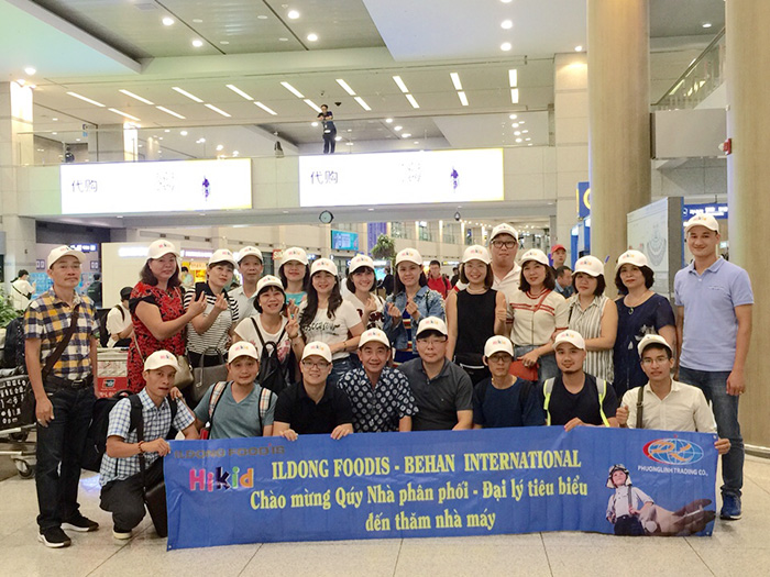 Đoàn tham quan nhà máy Hikid Hàn Quốc