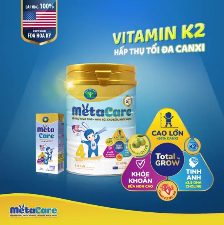 Sữa Metacare mới