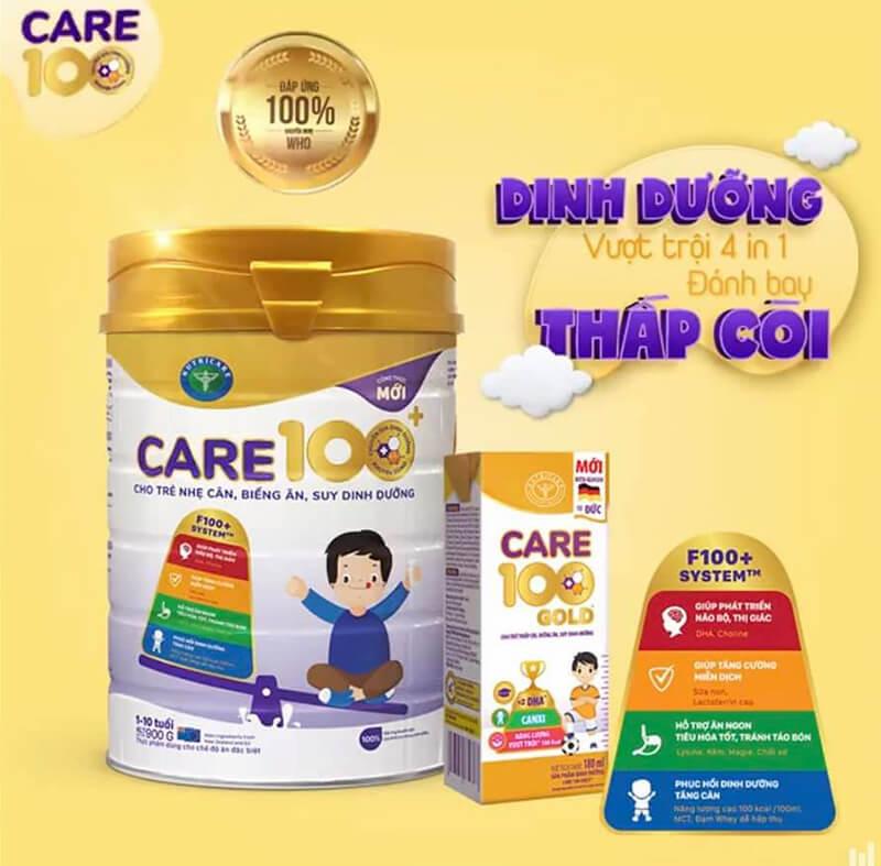 Sữa Care 100 mới