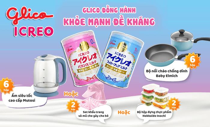 Sữa Glico khuyến mãi