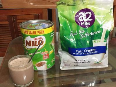 Sữa Milo Úc và A2
