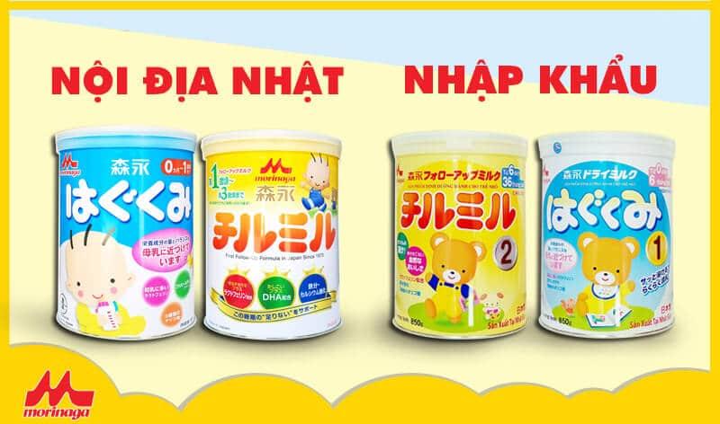 So sánh sữa Morinaga