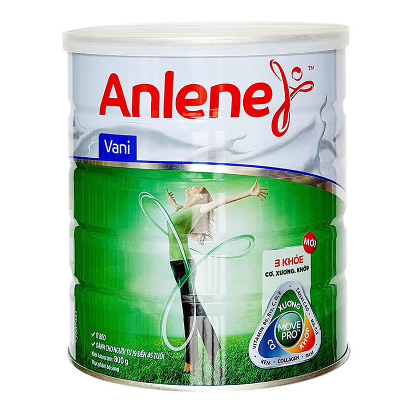 Hộp sữa Anlene