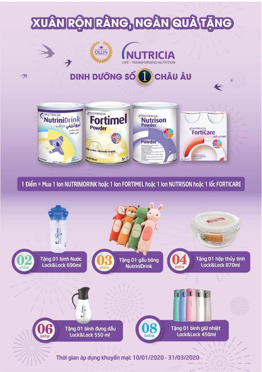Sữa Nutrinidrink Forticare Fotimel khuyến mãi