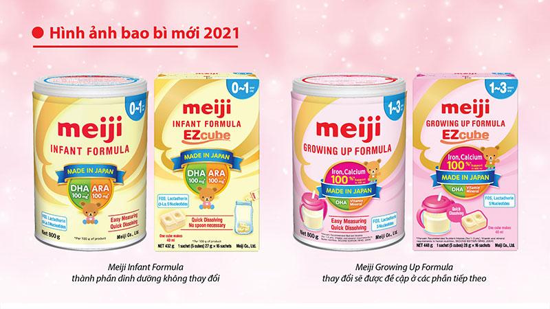 Sữa Meiji mẫu mới