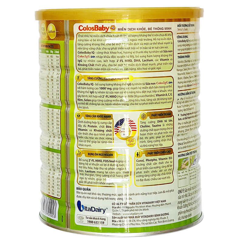Sữa Colosbaby IQ 1