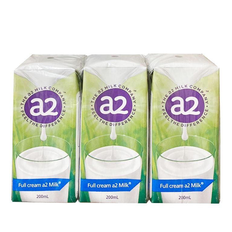 Sữa tươi A2 Nguyên Kem Full Cream Úc 200ml (24 hộp/thùng)
