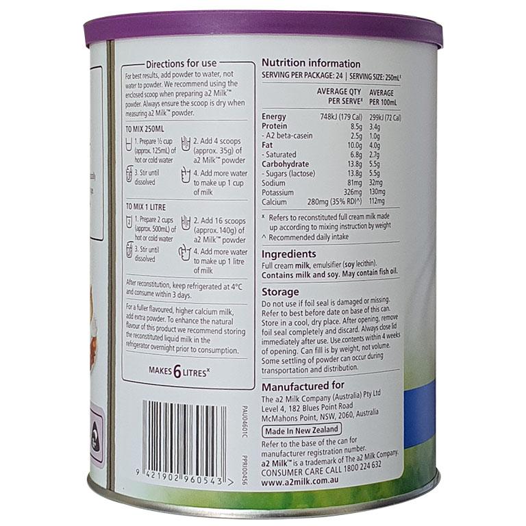 Sữa A2 Úc nguyên kem